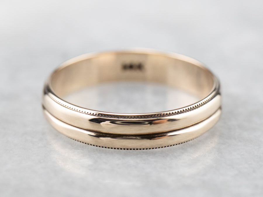 Double Stacked Gold Band