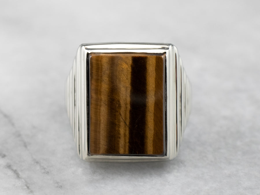 Vintage Tigers Eye Statement Ring