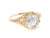 White Sapphire Gold Filigree Islington Ring by Elizabeth Henry