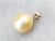 Large Yellow Pearl Gold Pendant