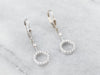 Diamond Circle White Gold Drop Earrings
