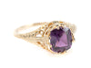 Purple Sapphire Gold Filigree Islington Ring by Elizabeth Henry