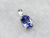 White Gold Tanzanite Solitaire Pendant