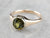 Demantoid Garnet Gold Solitaire Ring