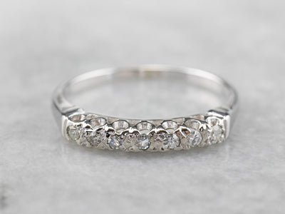 Diamond 14K White Gold Prong Set Wedding Band