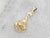 Art Nouveau Old Mine Cut Diamond Floral Gold Pendant