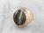 Antique Cat's Eye Sillimanite Rose Gold Dragon Ring