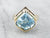 Fancy Cut Blue Topaz Gold Statement Ring