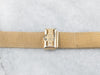 Vintage 14K Gold Superfine Mesh Ladies Watch Band