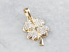 Diamond Four Leaf Clover Gold Pendant