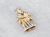 14K Gold Mink Coat Charm