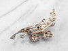 Old Mine Cut Diamond 1850s Floral Brooch