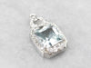 Aquamarine Diamond Platinum Pendant