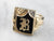 "Vintage ""B"" Black Onyx Diamond Gold Signet Ring"