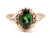 Abigail Green Tourmaline Rose Gold Ring by Elizabeth Henry