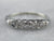 Vintage Diamond Heart White Gold Wedding Band