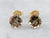 Andalusite and Gold Stud Earrings