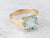 18K Gold Aquamarine Solitaire Ring