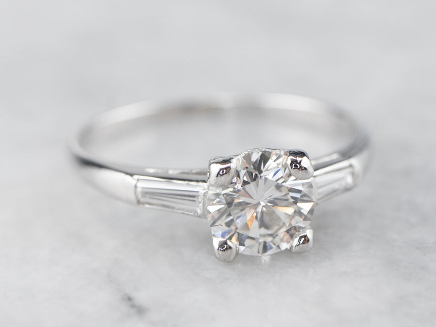 Platinum Retro Era Diamond Engagement Ring