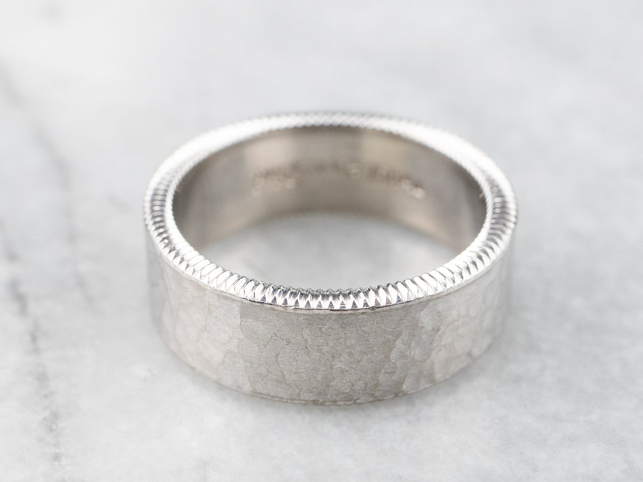 Heavy Hammered Finished Band