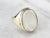 Bezel Set Moonstone Gold Statement Ring