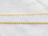 14K Gold Wheat Chain Necklace