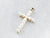 Pearl Cross 14K Gold Pendant