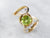 Modernist Peridot and Diamond Ring