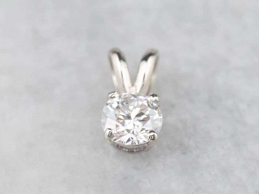 Diamond White Gold Solitaire Pendant