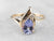 Teardrop Tanzanite Diamond Gold Ring