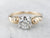 Scrolling Round Brilliant Diamond Solitaire Ring