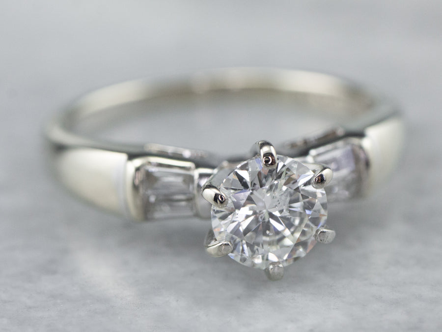 Classic Diamond White Gold Engagement Ring