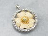 Floral Diamond Halo Pendant