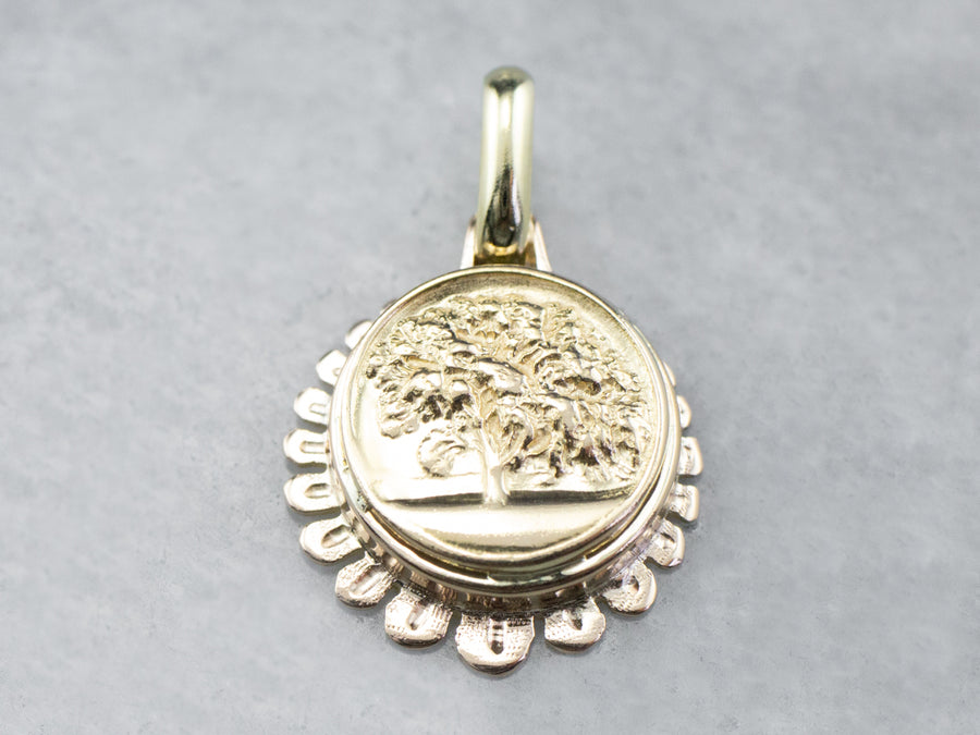 Golden Tree Pendant