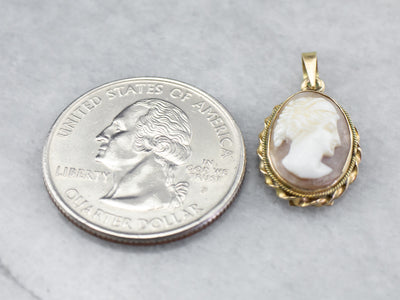 Vintage Cameo 14K Gold Pendant
