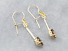Andalusite Gold Drop Earrings