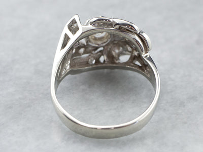Retro Era Diamond Cocktail Ring