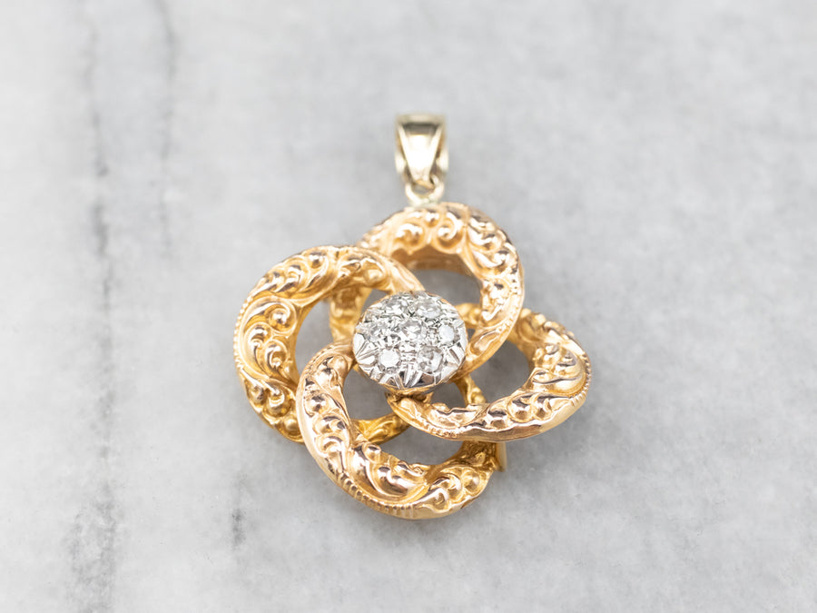 Diamond Lover's Knot Pendant