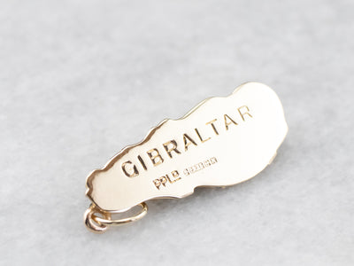 Rock of Gibraltar Gold Charm