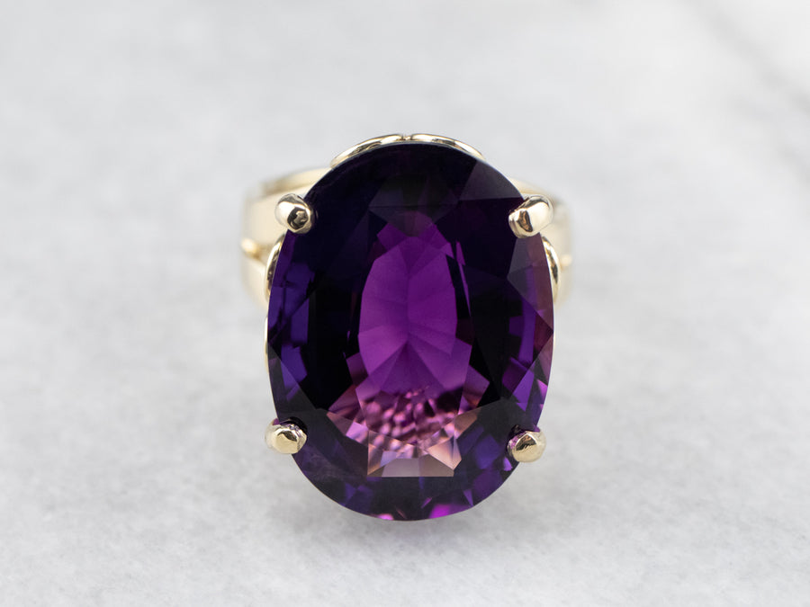Exceptional Amethyst Gold Cocktail Ring