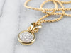 18K Gold Diamond Cluster Pendant Necklace
