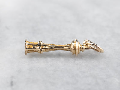 14K Gold Space Needle Charm