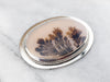 Dendritic Agate Sterling Silver Pendant or Brooch