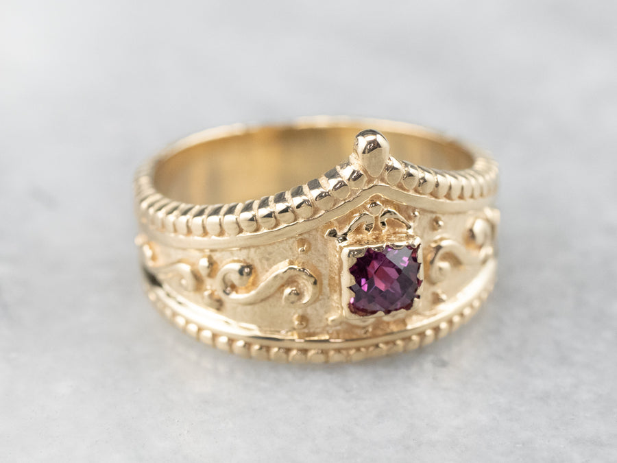 Royal Garnet and Gold Ring
