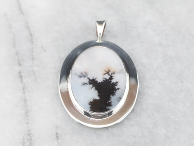 Sterling Silver Dendritic Agate Pendant