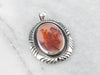 Red Dendritic Agate Pendant