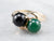 Black and Green Onyx Statement Ring