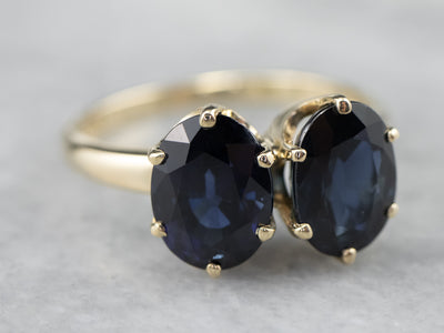 Double Sapphire Statement Ring