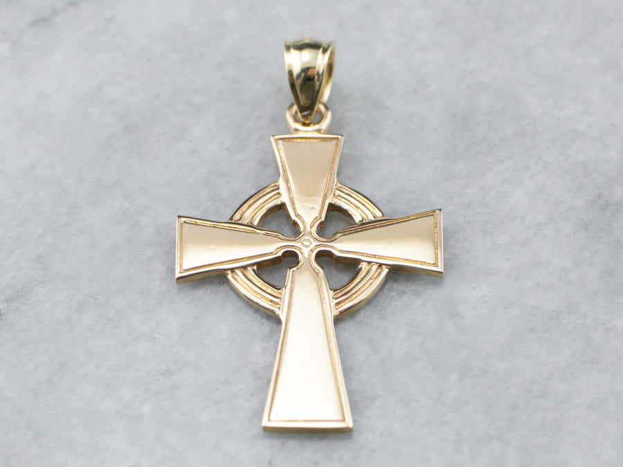 Vintage Gold Celtic Cross