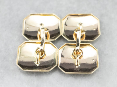 Etched Gold Retro Era Cufflinks